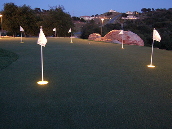 EasyTurf, lighting, golf lighting, backyard putting green, putting greens, artificial putting greens, artificial turf putting greens