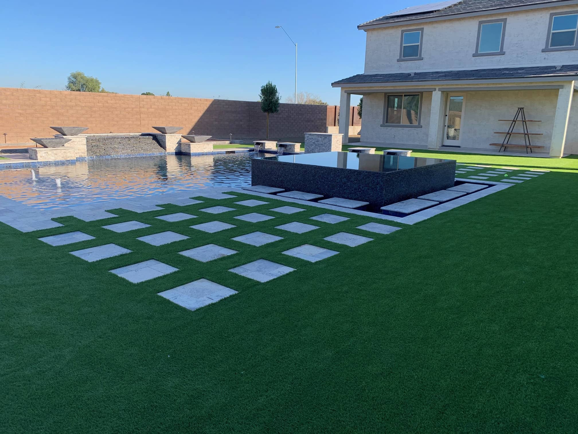 Residential Pool Area Decking